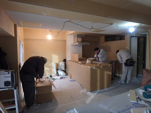 キッチン取付工事