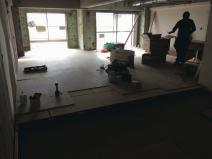 二重床造作工事